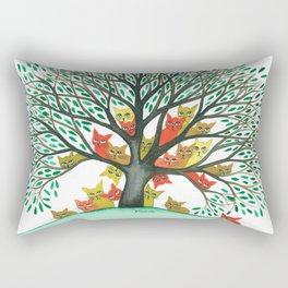 Nebraska Whimsical Cats in Tree Rectangular Pillow