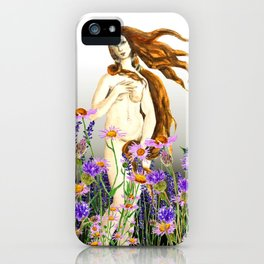 Venus and flower iPhone Case
