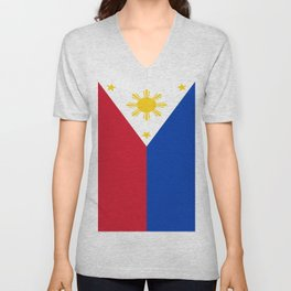 Flag of the Philippines Unisex V-Neck