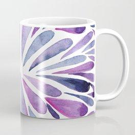 Symmetrical drops - purple and indigo Coffee Mug