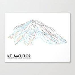 Mt. Bachelor, OR - Minimalist Trail Art Canvas Print
