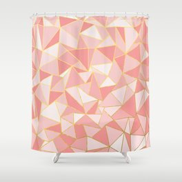 Ab Out Blush Gold Shower Curtain