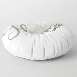 Save Thyme Floor Pillow