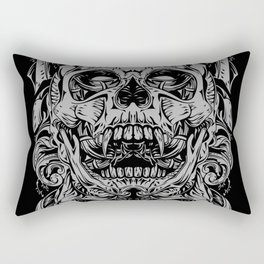 2 FACES SKULL Rectangular Pillow