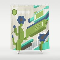 tequila Shower Curtains featuring Tequila Party by Bakal Evgeny