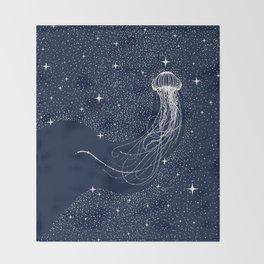 starry jellyfish Throw Blanket