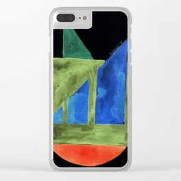 180818 Inverted Geometrical Watercolour 2| Colorful Abstract | Modern Watercolor Art Clear iPhone Case
