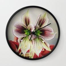 Twin Lilies Wall Clock