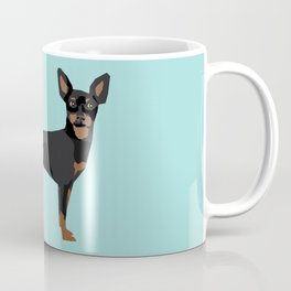 min pin miniature doberman pinscher farting dog cute funny dog gifts pure breed dogs Coffee Mug