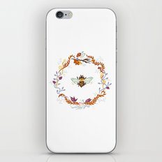 Bee with Flowers iPhone & iPod Skin