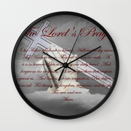 Praying Hands with Lord's Prayer Spiritual Religious Art A339 Wall Clock