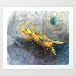 God of the Sea Art Print