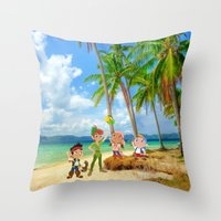 jake Throw Pillows featuring Jake by foreverwars