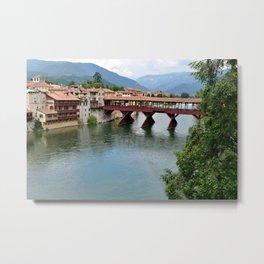 Pont Alpini Landscape Metal Print
