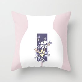 Encumbered Exploration of Existence (Restricted Boundary) Throw Pillow