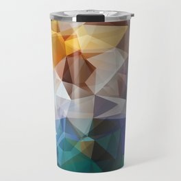Abstract background of triangles polygon print. Bright design colors Travel Mug
