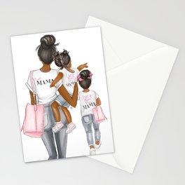 I got it from my mama 2 girls dark hair dark skin Stationery Cards