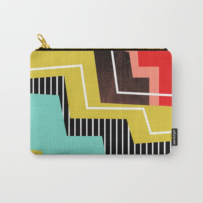 Color Block Carry-All Pouch