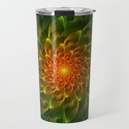 Beautiful Orange-Green Desert BarrelCactus Spiral Travel Mug