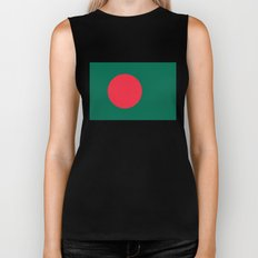Flag of Bangladesh, High quality authentic HD version Biker Tank
