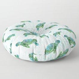 Sea Turtle Squad Floor Pillow