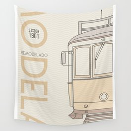 Trams of the world - Lisbon Wall Tapestry