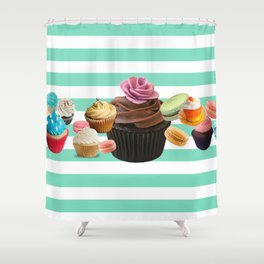snack time hey! are not you hungry? Shower Curtain