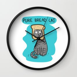 Pure bread cat Wall Clock