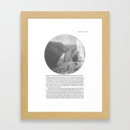 A September Holiday Framed Art Print