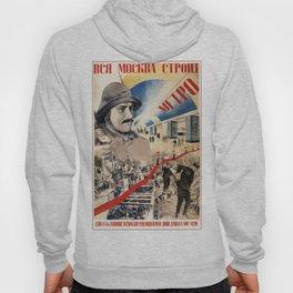 Vintage poster - Soviet Metro Hoody