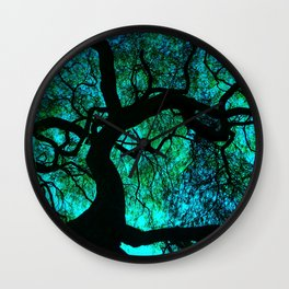 Under The Tree Blue and Green Wall Clock