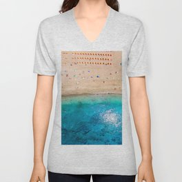 AERIAL. Summer beach Unisex V-Neck
