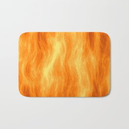 Red flame burning Bath Mat