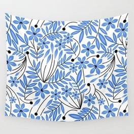 Spring Blues - Daffodils Wall Tapestry