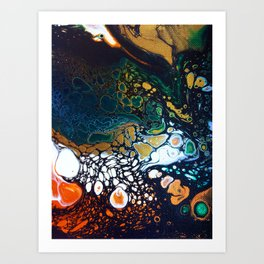 Malachite -- Abstract Painting Art Print