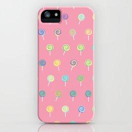 Cute Lollipop Pattern iPhone Case