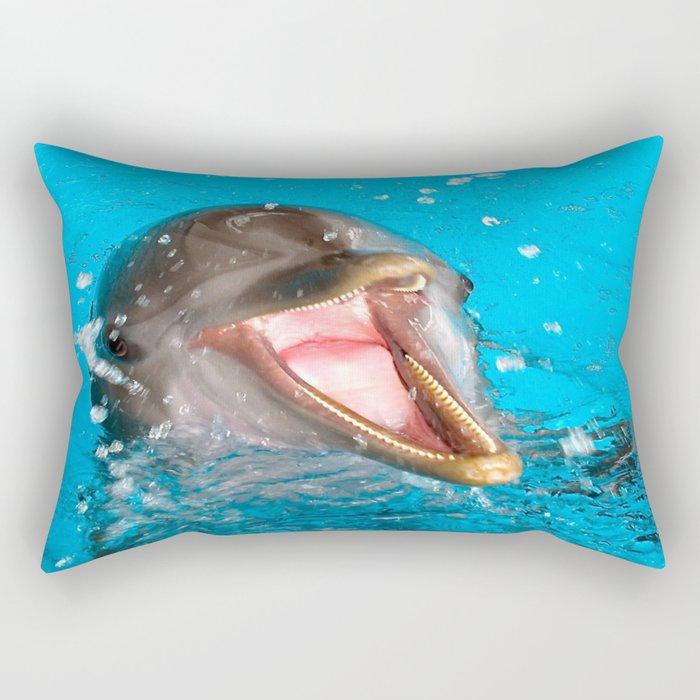 Because I'm Happy Rectangular Pillow
