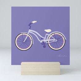 Cruiser Bike: Lavender Field Mini Art Print