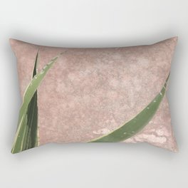 Cactus on Weathered pink wall Rectangular Pillow