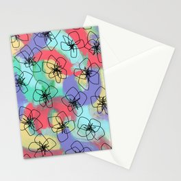 Hibiscus Family no.2 - hibiscus flower illustration floral pattern Hawaiian painting Stationery Cards