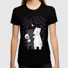 Bear Family Black SMALL Womens Fitted Tee