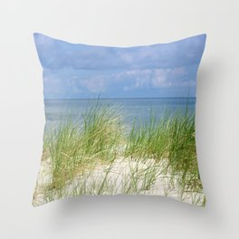 Dunes of the Baltic Sea Throw Pillow