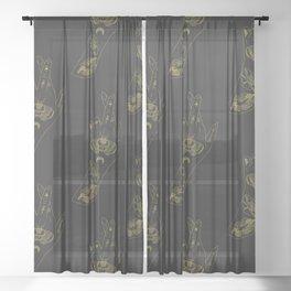 Cross My heart - Illustration Sheer Curtain