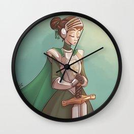 Lady Knight Wall Clock