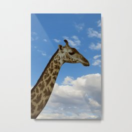 Giraffe in the sky, don't ask why. Metal Print