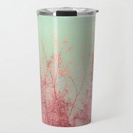 Harmony (Mint Blue Sky, Coral Pink Plants) Travel Mug