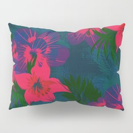 Tropical Floral Pattern Pillow Sham
