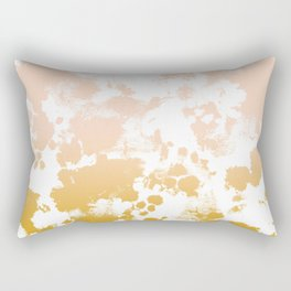 Essie - abstract minimal gold painting metallics home decor minimalist hipster Rectangular Pillow