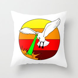 Laser Seagull Funny Retro Seagull Design Throw Pillow