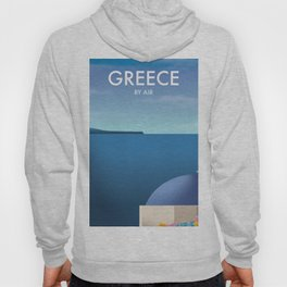 Greece By Air Vacation poster. Hoody